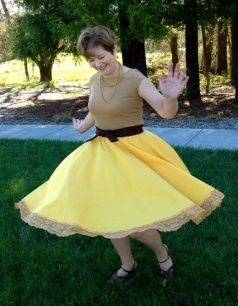 Circle Skirt made from tablecloth