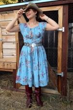 Western Look 1940's Dress