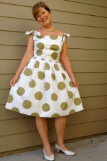 Polka Dot Dress 1950