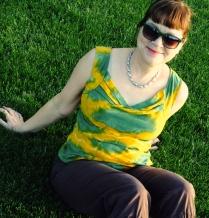Lekala shibori dyed top
