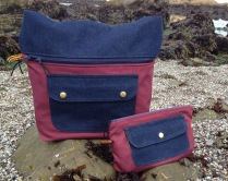 The front of the tote and pouch